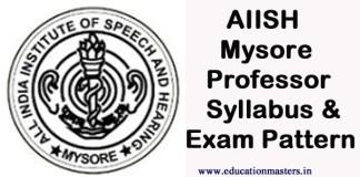 AIISH-Syllabus