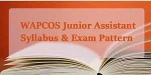 WAPCOS-junior assistant-Syllabus