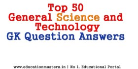 50 general science gk question