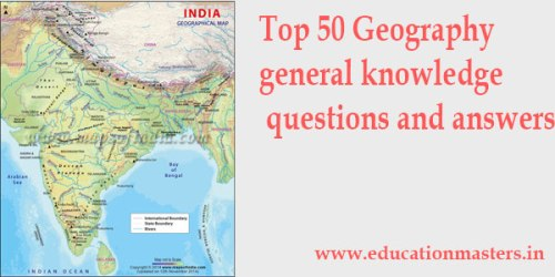 Indian geography general knowledge questions answers