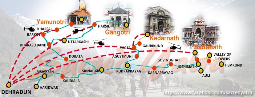 char dham yatra map