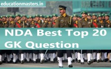 Top 20 GK Questions for NDA Exam Preparation