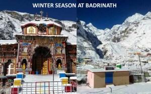 winter scene at badrinath