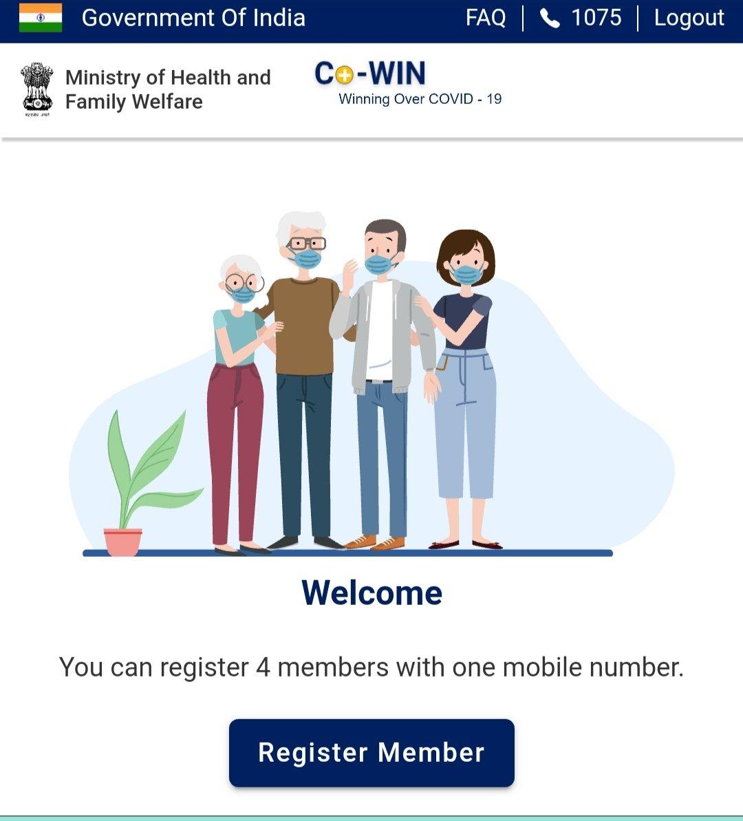 Covid Vaccination Registration संपूर्ण भारत वर्ष में 1 मई 2021 से 18 प्लस आयु वर्ग के नागरिकों<div class=
