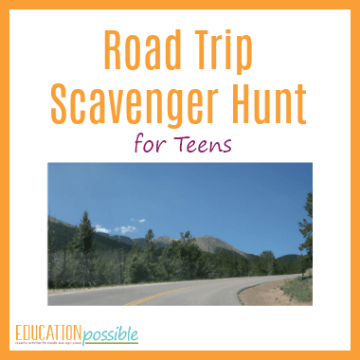 image about Road Trip Scavenger Hunt Printable called Street Holiday vacation Scavenger Hunt for Centre College or university Learners