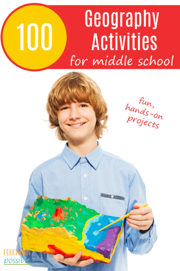 100 Hands-on Geography Activities for Middle School