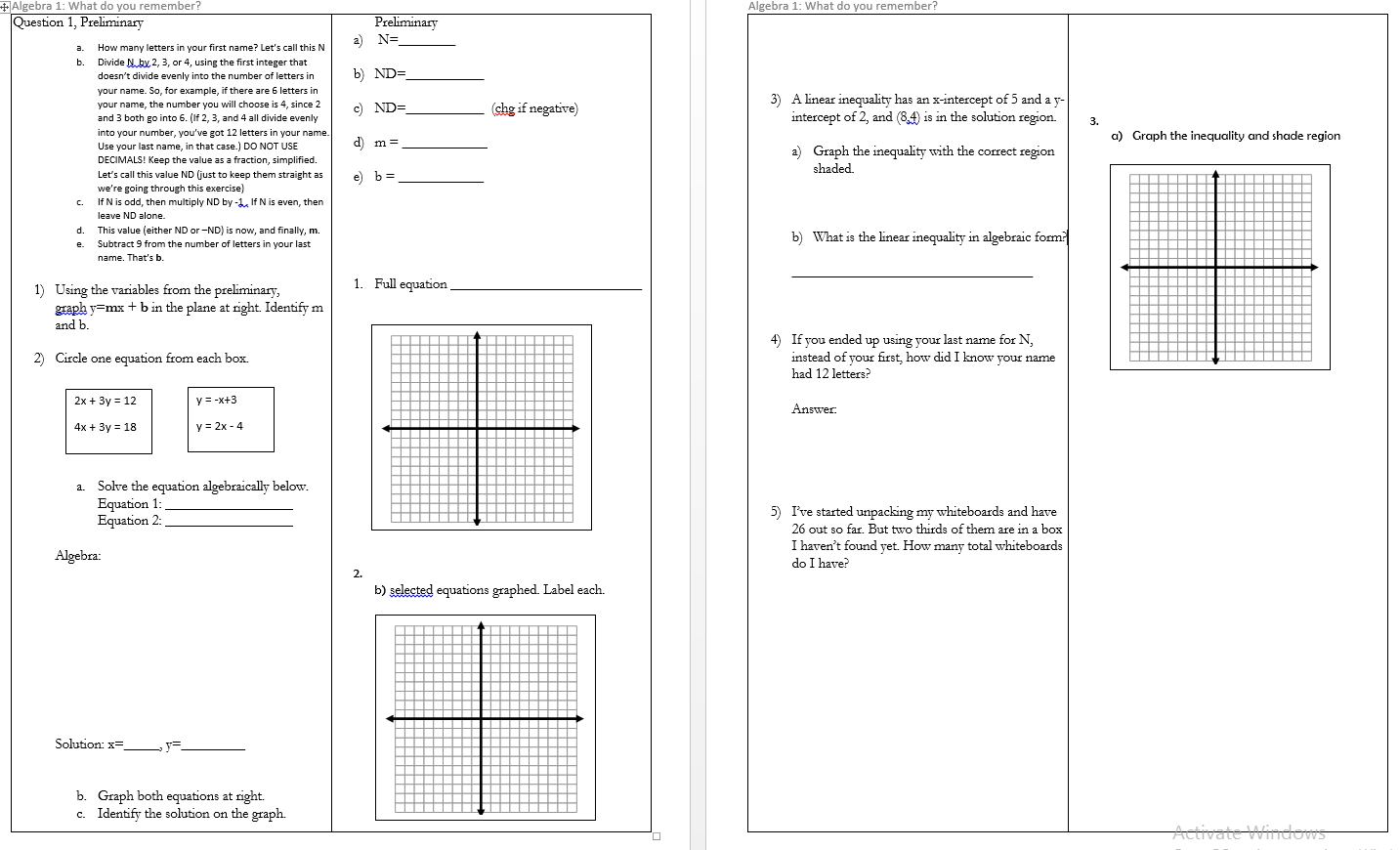 Combining Transformations Worksheet