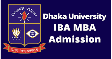 du iba mba admissions notice iba mba admission circular