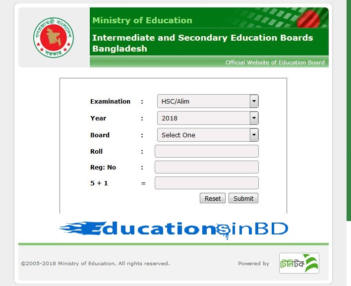 Dhaka Board HSC Result 2018 With Full Marksheet Published