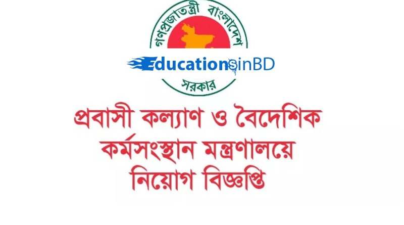 Ministry of Expatriate's Welfare and Overseas Employment Job Circular