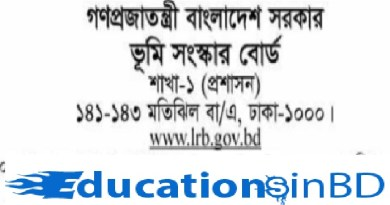 Land Reforms Board Government (LRB) Jobs Circular & Apply Instruction 2018