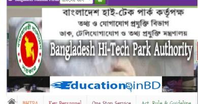 Bangladesh High Tech Park Job Circular Result & Apply Instruction -2019