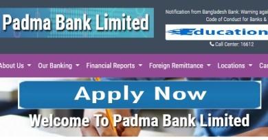 Padma Bank Limited Job Circular Result & Apply Instruction 2019