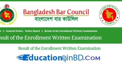 Bangladesh Bar Council Enrollment Written Exam Result 2021 Has Been Published on My www.educationsinbd.com website.