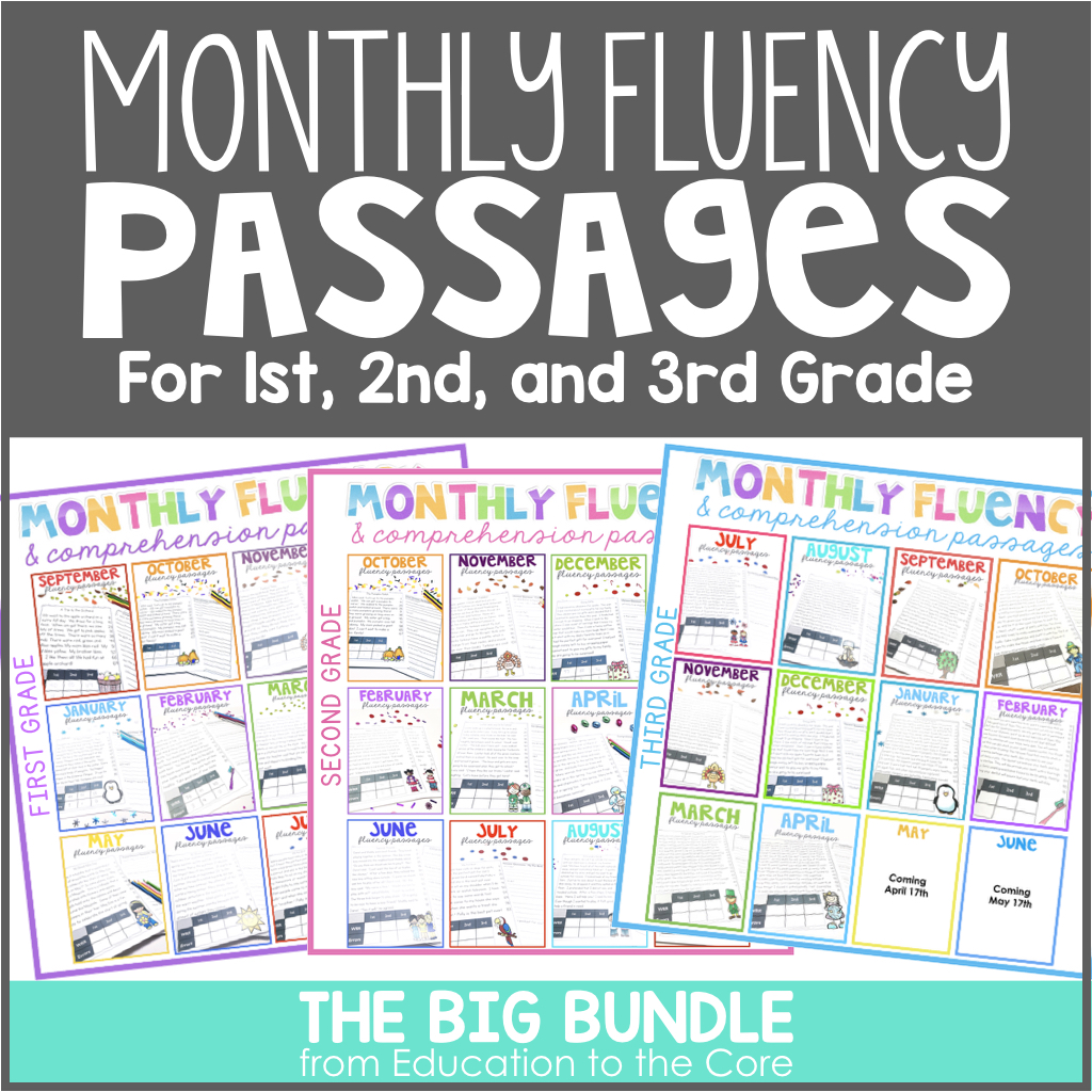 1st 2nd And 3rd Grade Reading Comprehension Passages And Questions Bundle