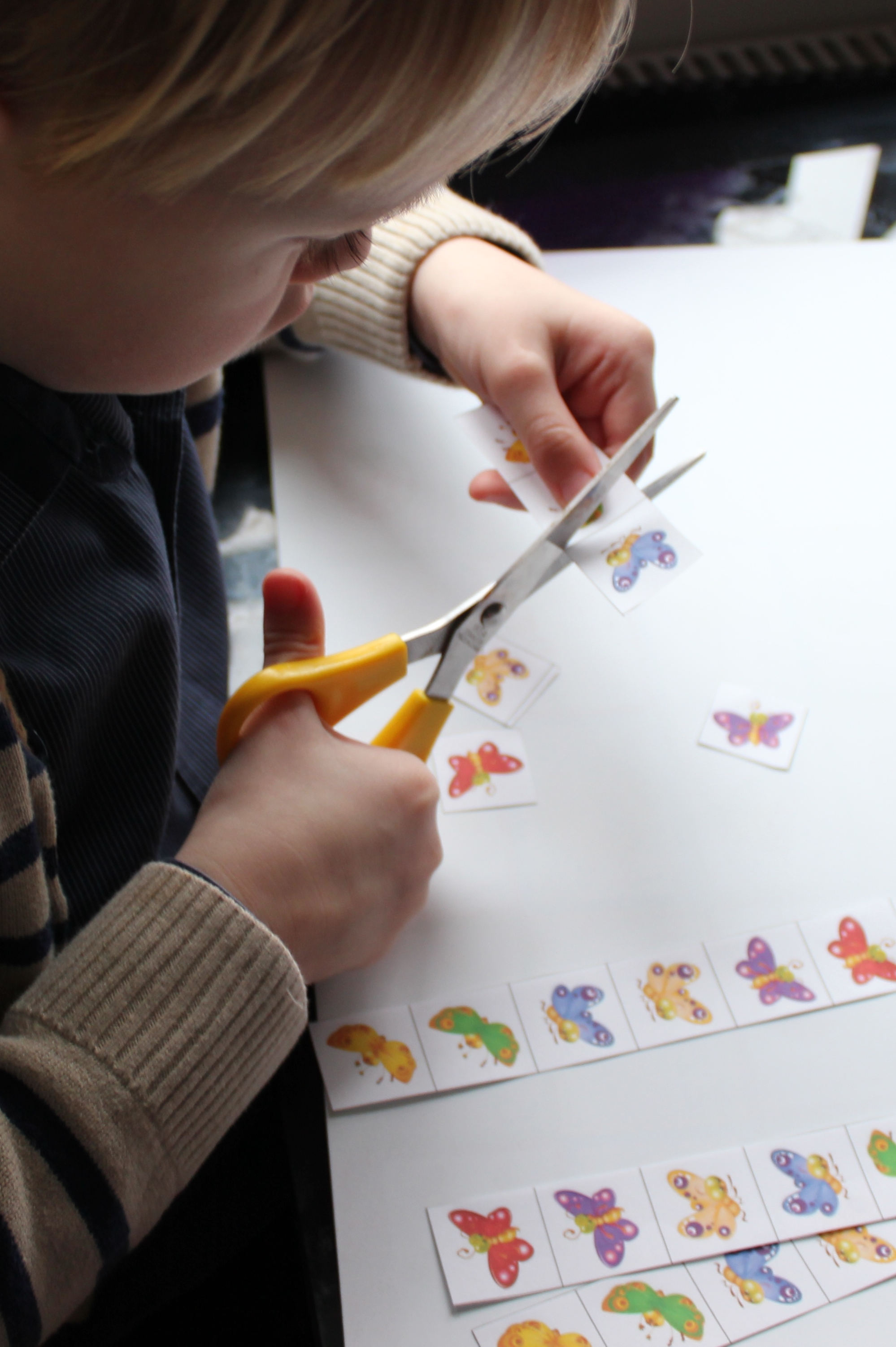 Cutting Out Pattern Butterflies Education Unfettered