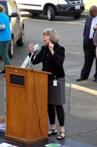 Rep. Norma Smith (R-10) tells students that they represent the future of Washington state