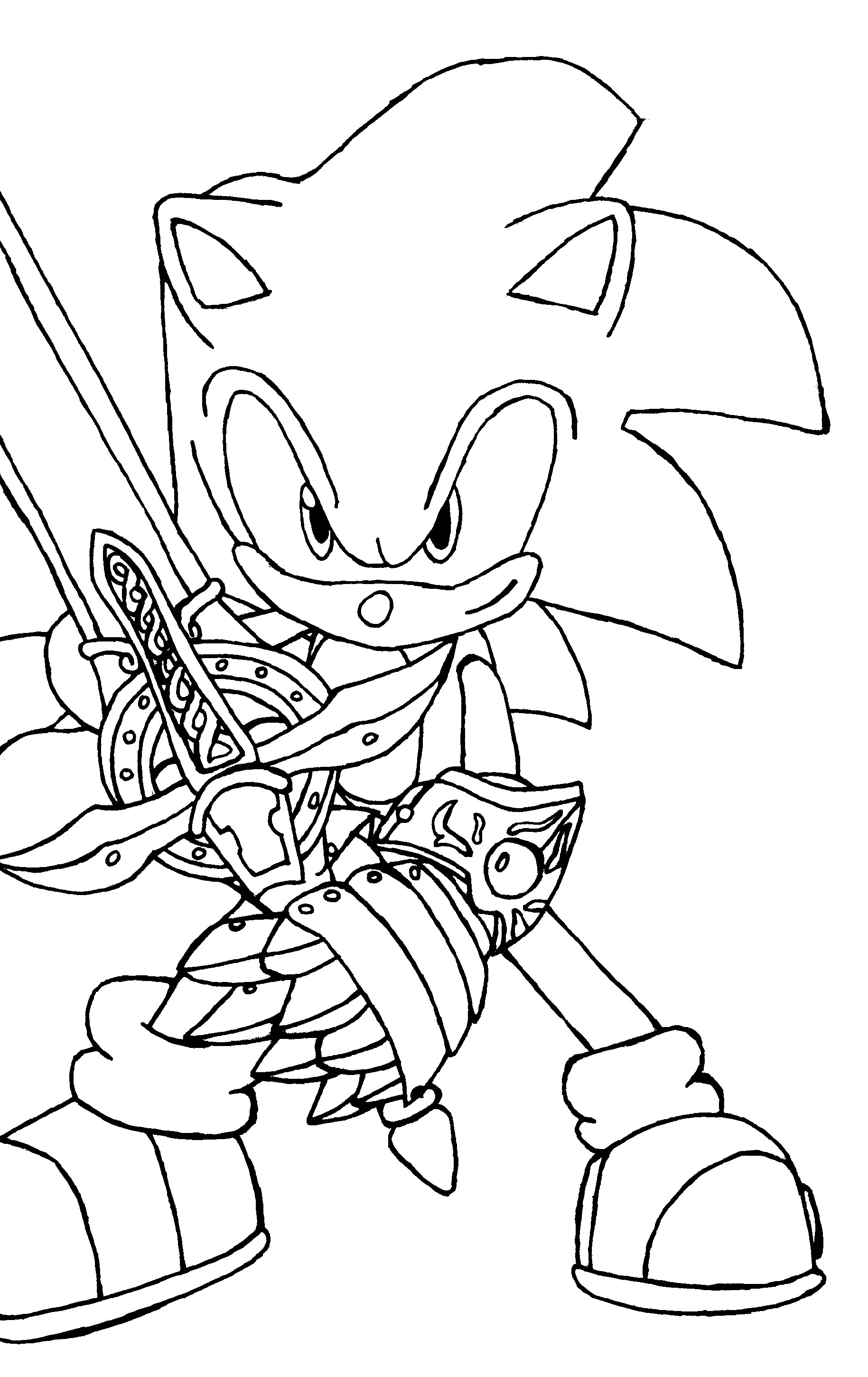 Sonic Coloring Pages For Boys