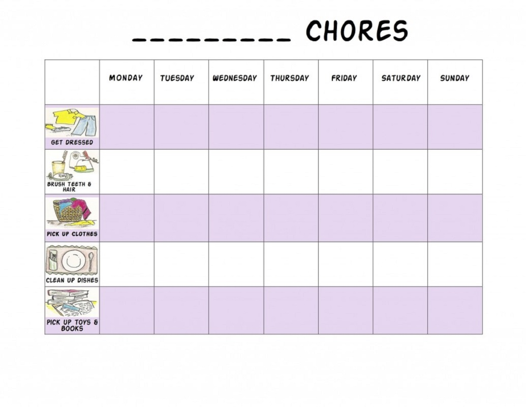 Preschool Reward Chart