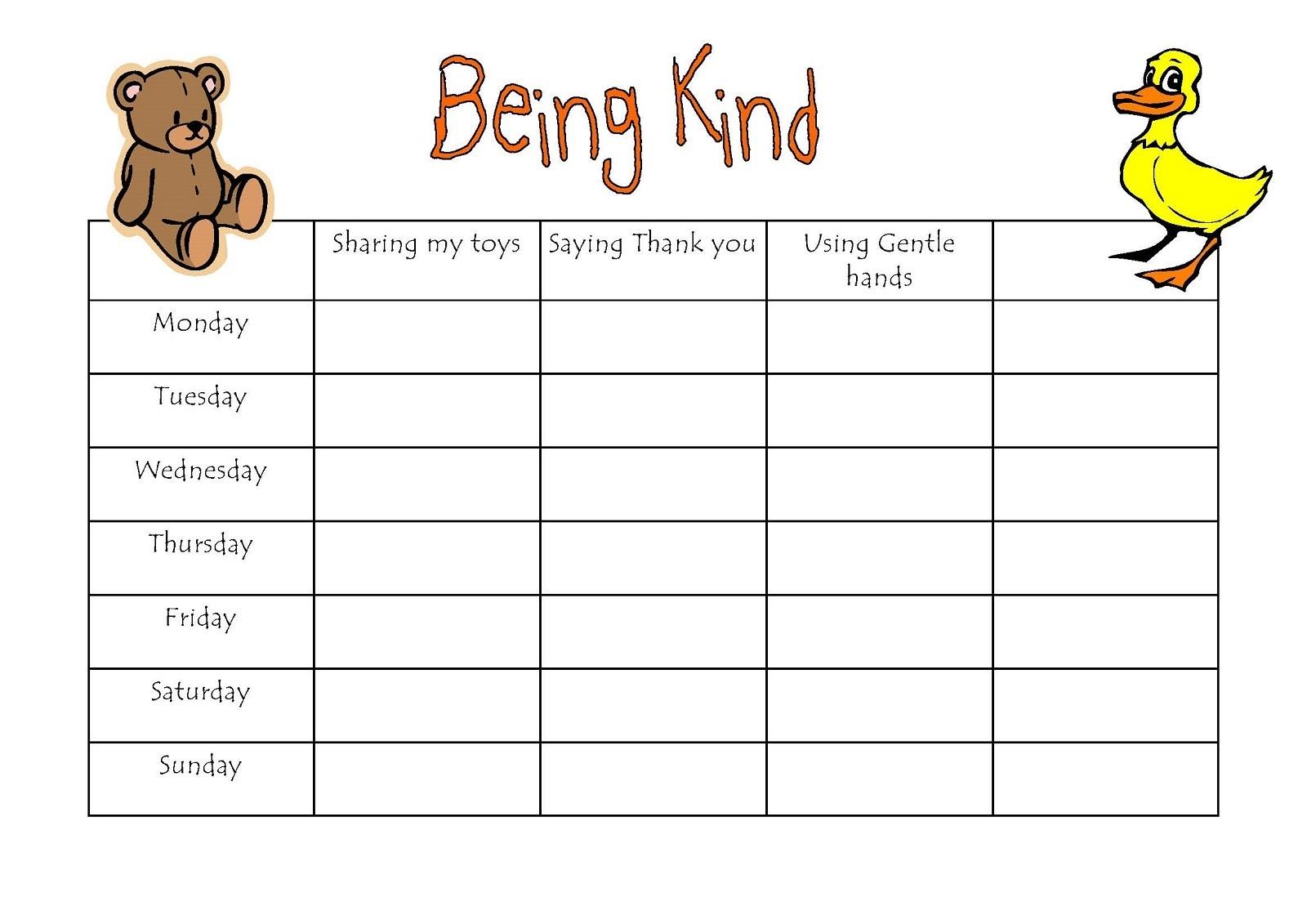 Preschool Reward Chart