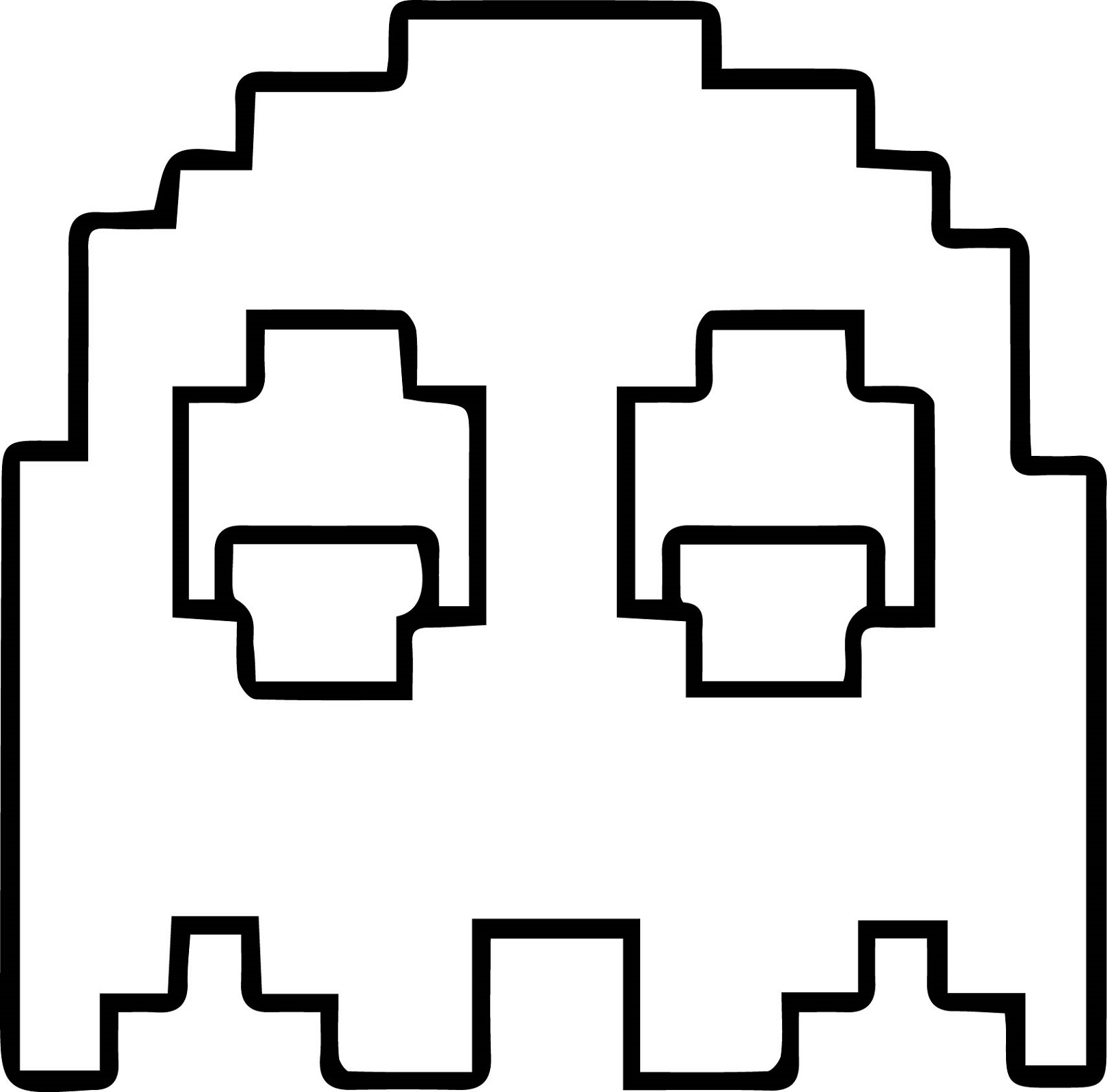 Pacman Coloring Pages Ghostly