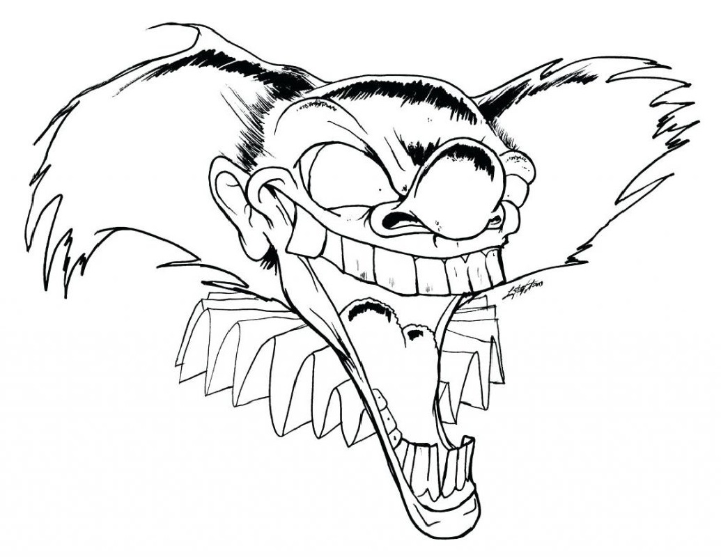 Scary Clown Coloring Pages 4