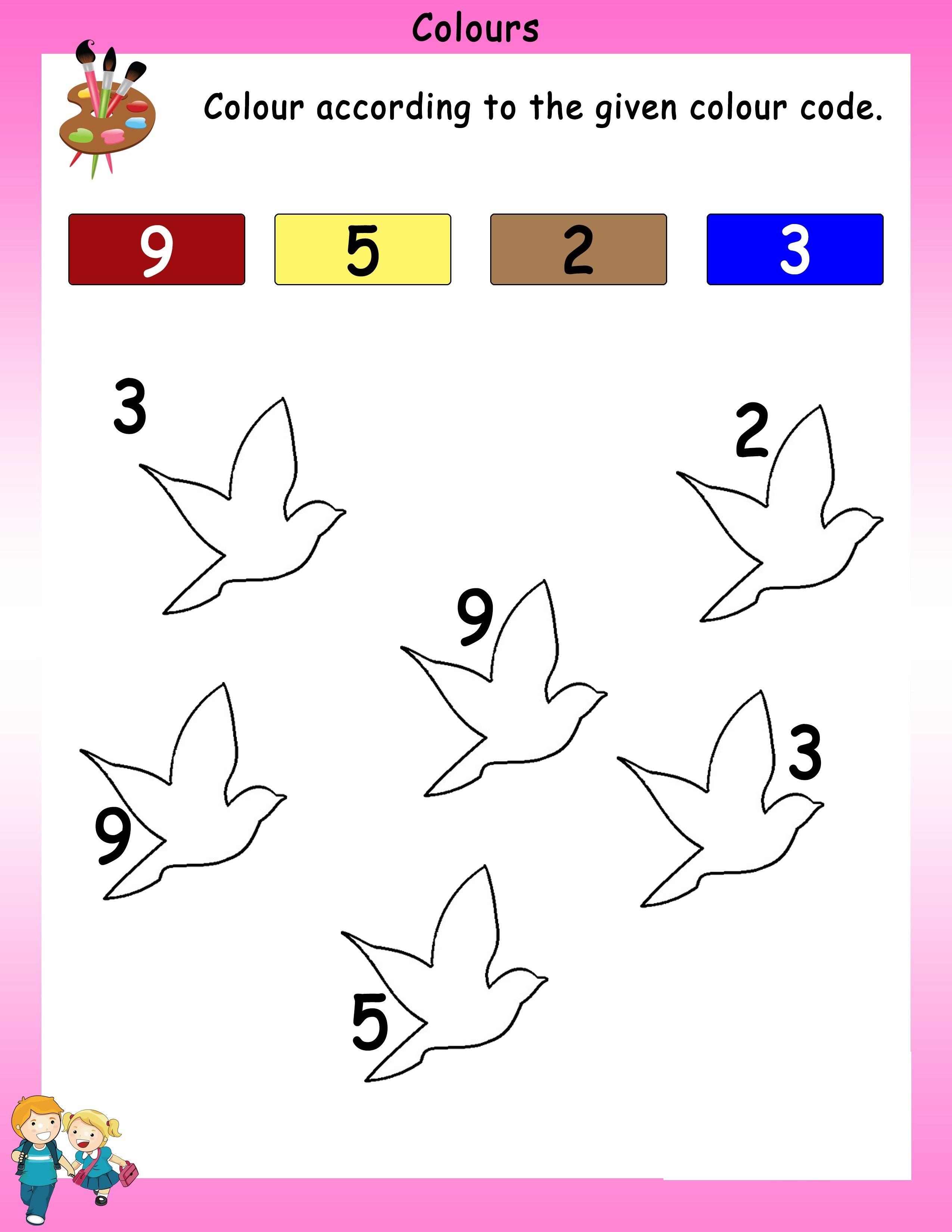 Worksheet For Nursery Printable
