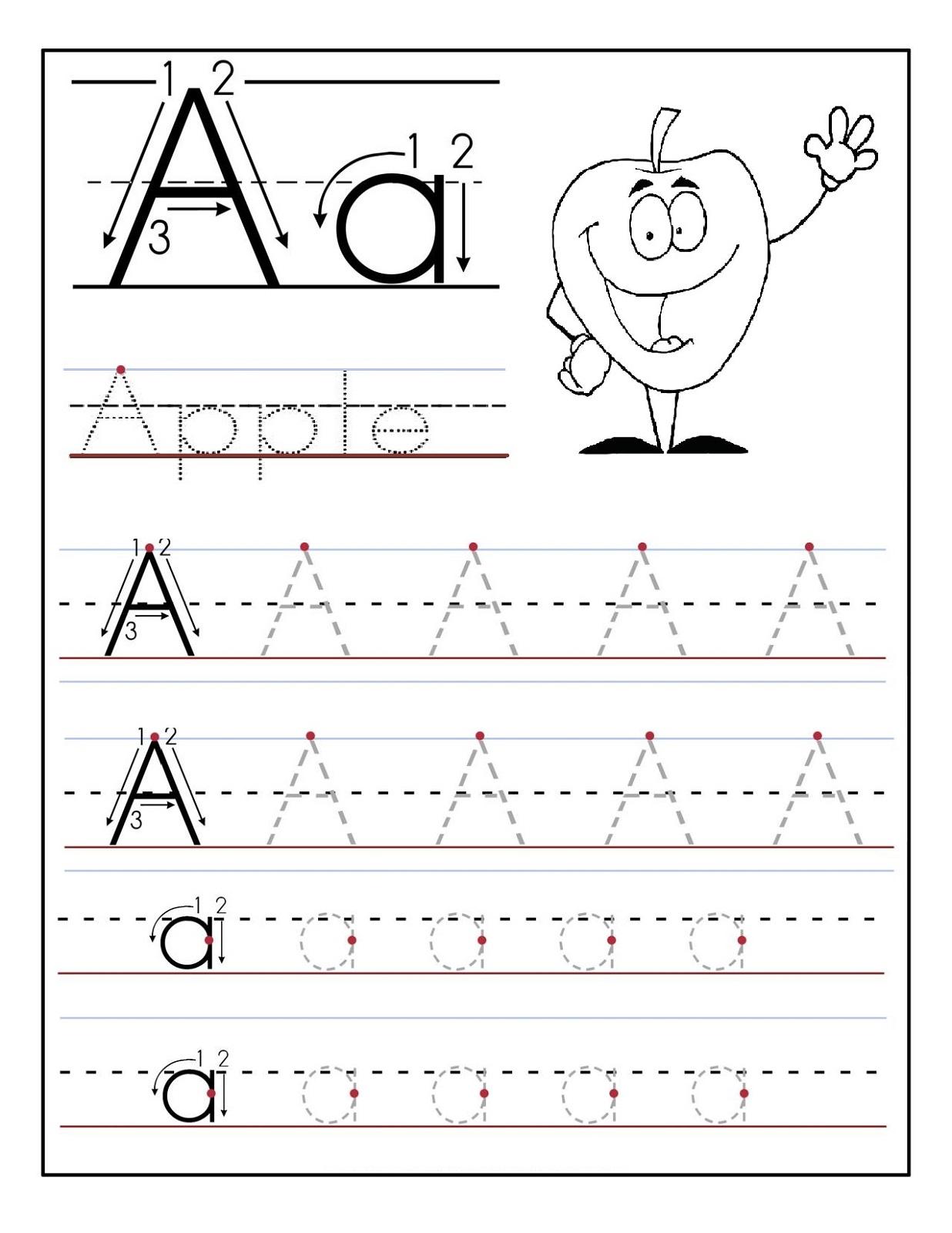 Alphabet Worksheets For Preschoolers 4