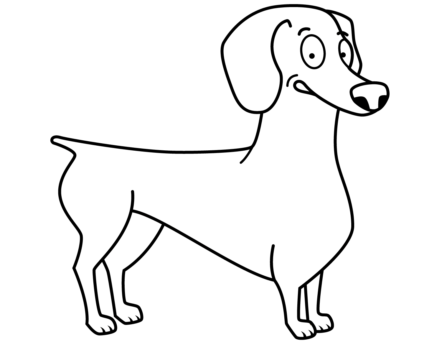 Dachshund Coloring Pages Printable