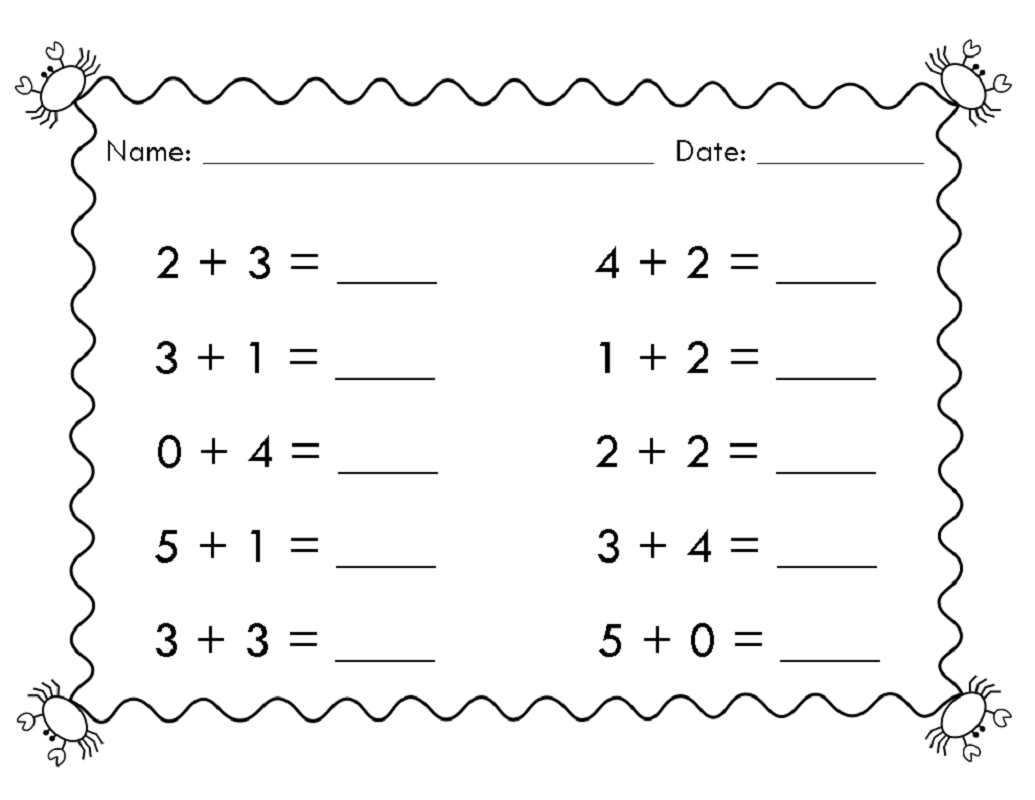 Free Easy Math Worksheets