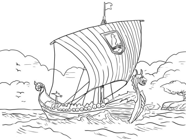 viking coloring pages # 69