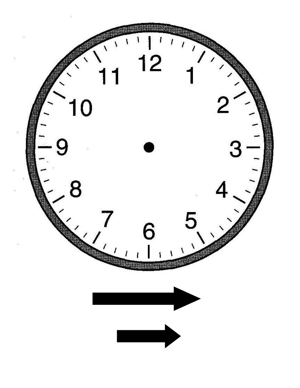 Printable Clock For Managing Your Time
