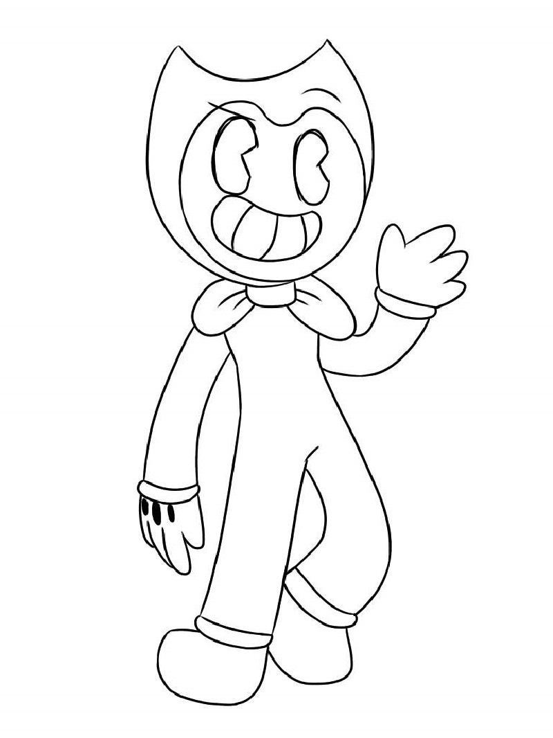 bendy coloring pages for good people  educative printable