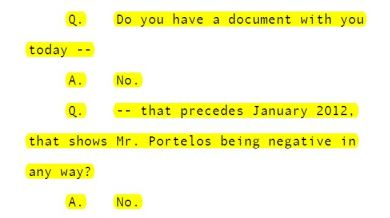 Hill nothing negative about Portelos before January 26 2012