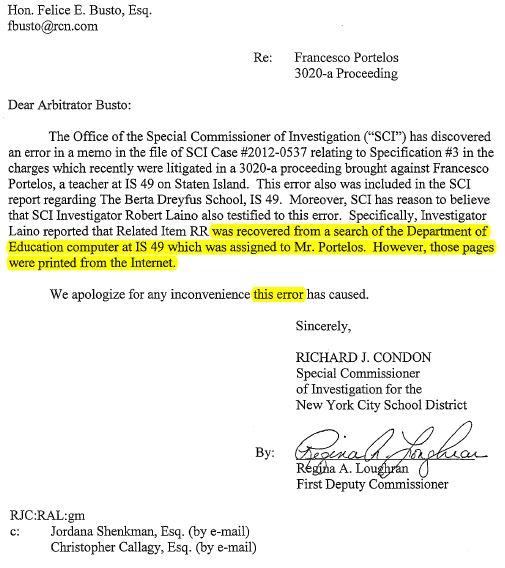 Richard Condon SCI Corruption Error (Inv Richard Marin)