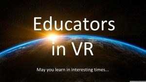 Educators in VR Logo