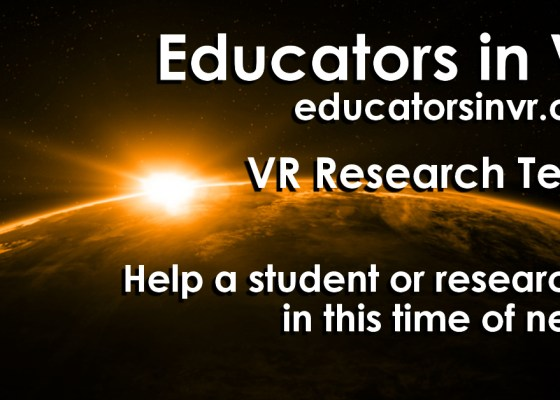 Help VR Researchers campaign image..