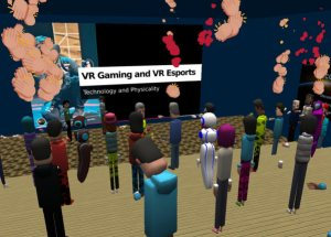 Educators in VR Workshop with Sonya Haskins, esports and VR games expert.