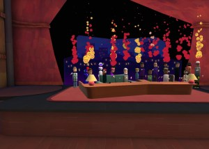 Panel discussion with hearts AltspaceVR