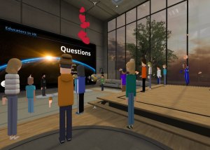Team project event in AltspaceVR.