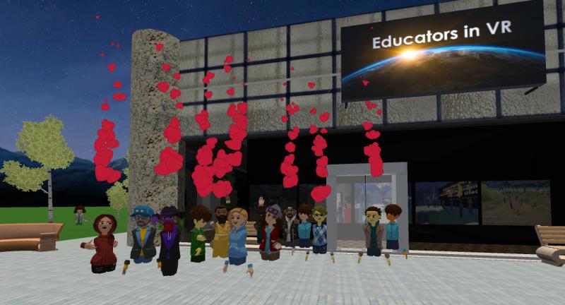 Educators in VR attendees.