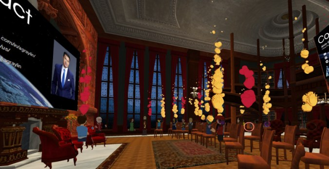 Virtual World Society Fireside Chat with Alvin Graylin and Tom Furness in AltspaceVR.