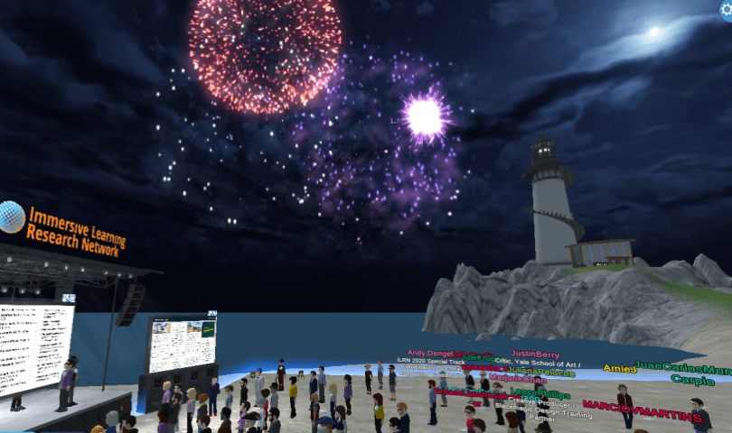 iLRN in VirBELA closing ceremonies 2020.