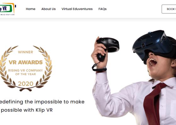 Klip VR website.