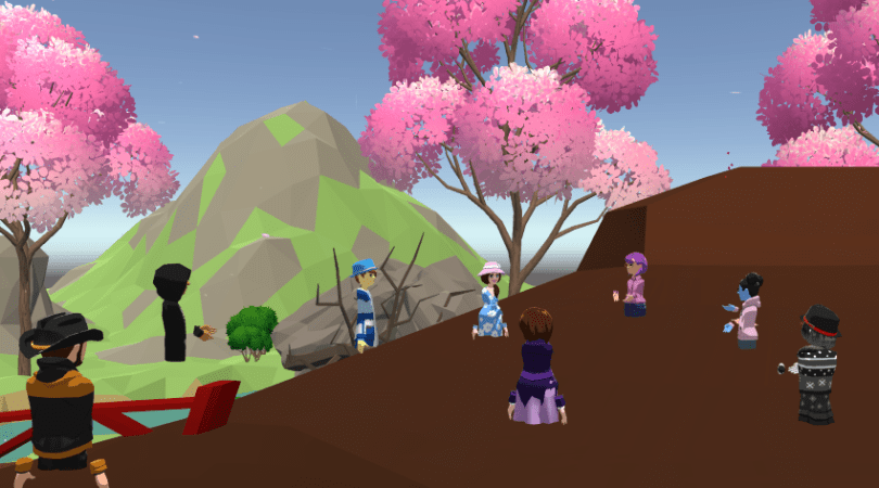 Educators in VR Virtual Schooling Social.