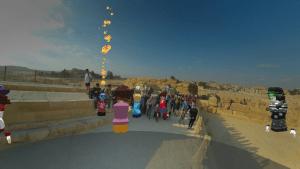 EDVR Virtual Schooling Team - Around the World event exploring landmarks.
