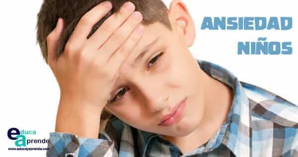 ansiedad en niños, ansiedad infantil