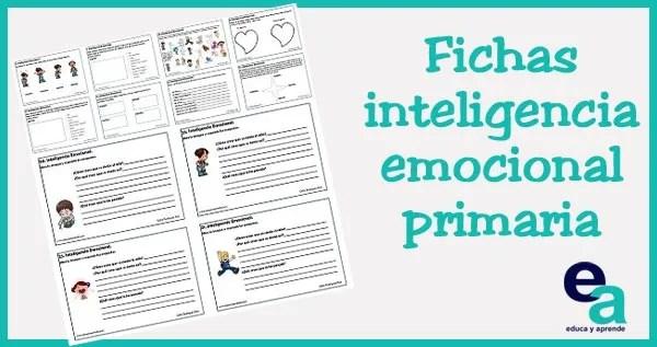Actividades de inteligencia emocional , fichas inteligencia emocional, inteligencia emocional primaria