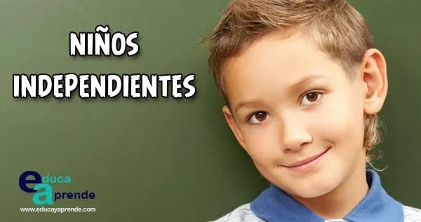 niños independientes, niños autónomos