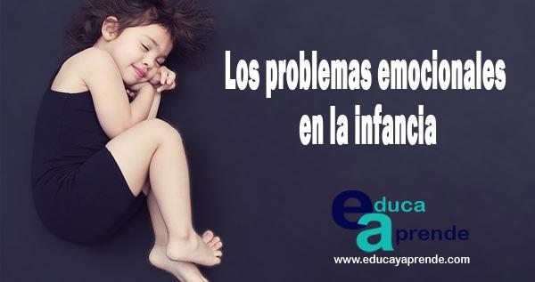 problemas emocionales en la infancia